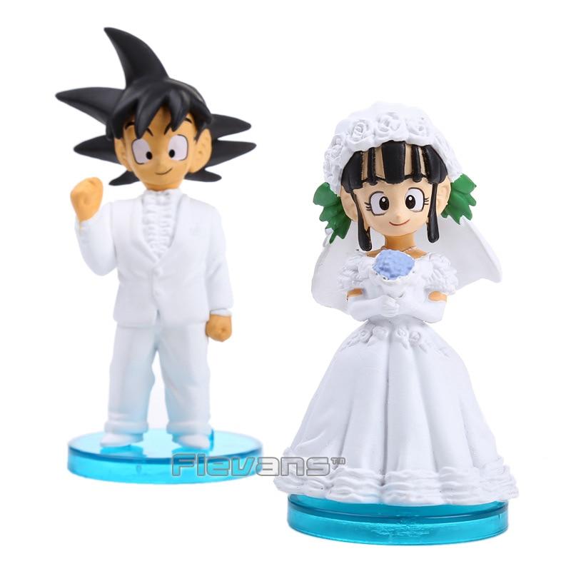 Dragon Ball – Goku and Chichi Couple Wedding Themed Action Figure (Set of 2) Action & Toy Figures