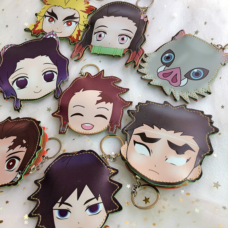 Demon Slayer – Different Characters Themed Money Wallet Keychains (9 Designs) Wallets