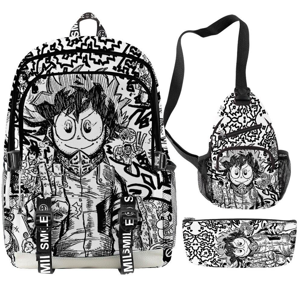 Japan Anime My Hero Academia Backpacks School Bags Boys Girls Teenage Students Cosplay Anime Cartoon Laptop Sports Travel Bags Uncategorized