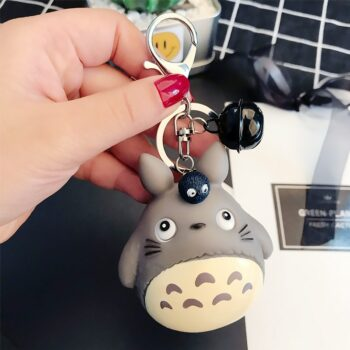 Cute Totoro Animal Keyring Fur Men or Women Keychain Women Trinket Metal Key Chains Car Bag Pendent Charm Uncategorized