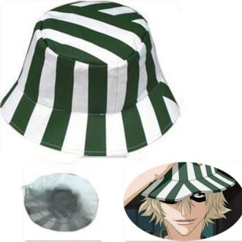 Anime Bleach Urahara Kisuke Cosplay Hat Cap Dome Green and White Striped Summer Cool Hat Watermelon Hat Uncategorized