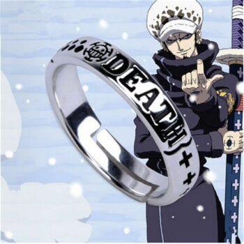 Hot Anime One Piece Monkey D Luffy Death Trafalgar Law Ace 925 Sterling Silver Ring Cosplay Gift S925 Props Uncategorized