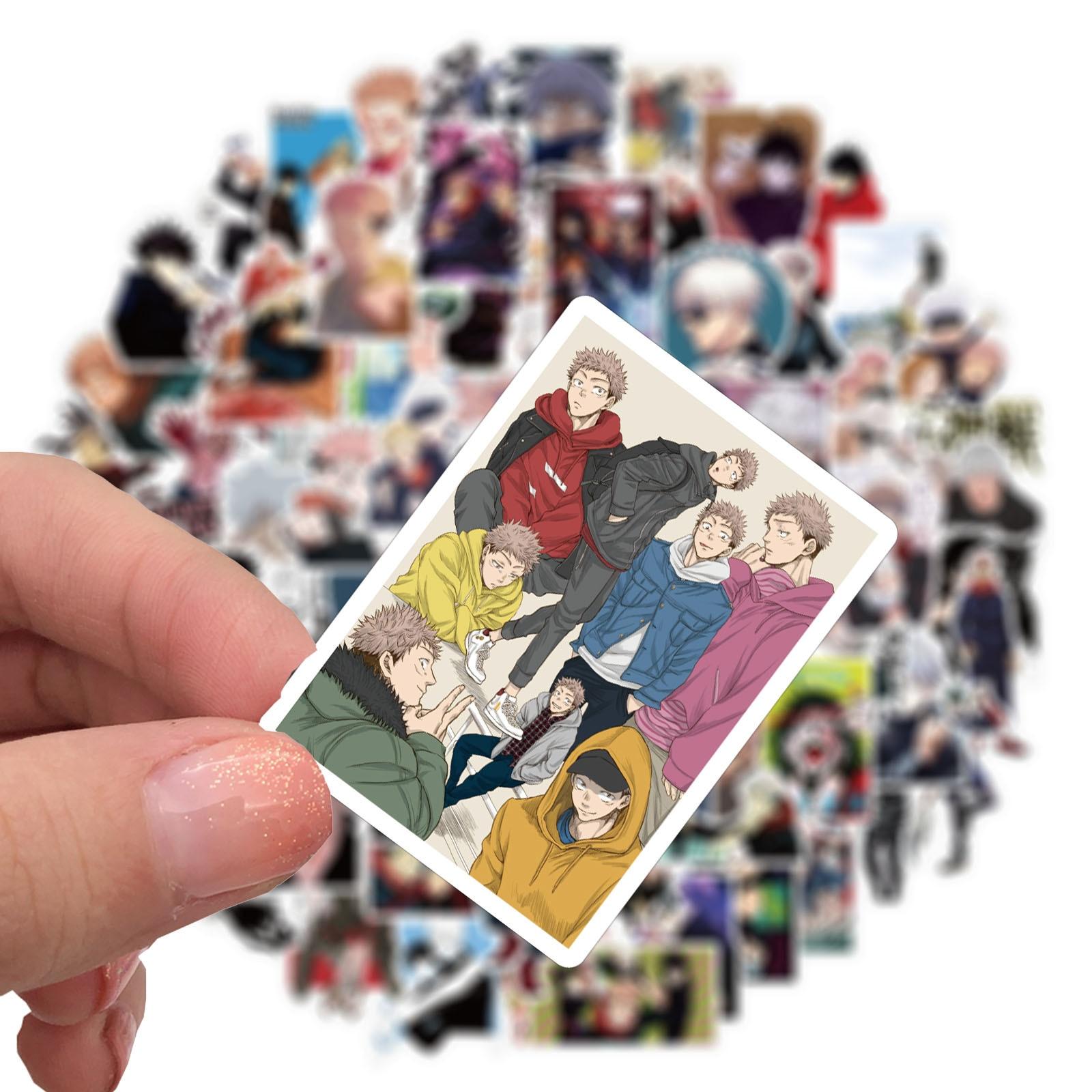 10/50/100pcs Anime Jujutsu Kaisen Sticker Sorcery Fight Stickers Waterproof Decals Skateboard Sticker For Laptop Suitcase Uncategorized