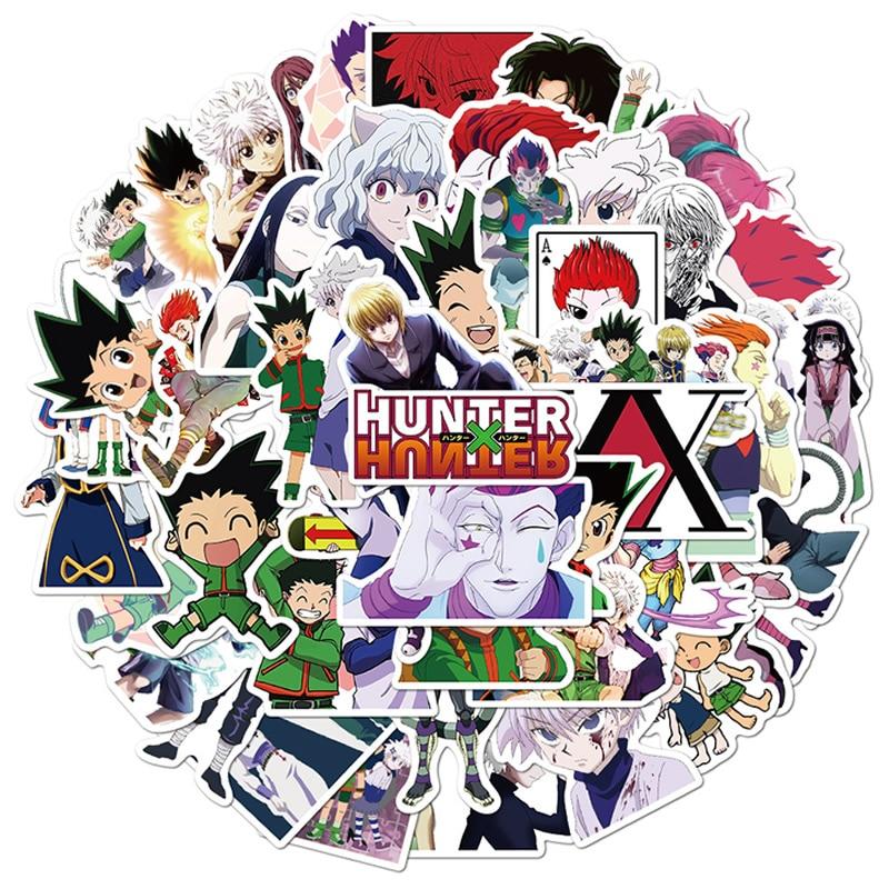 10/30/50pcs/Pack Hunter X Hunter Anime Stickers Laptop Bicycle Guitar Skateboard Sticker Kid DIY Graffiti Waterproof stikers Toy Uncategorized