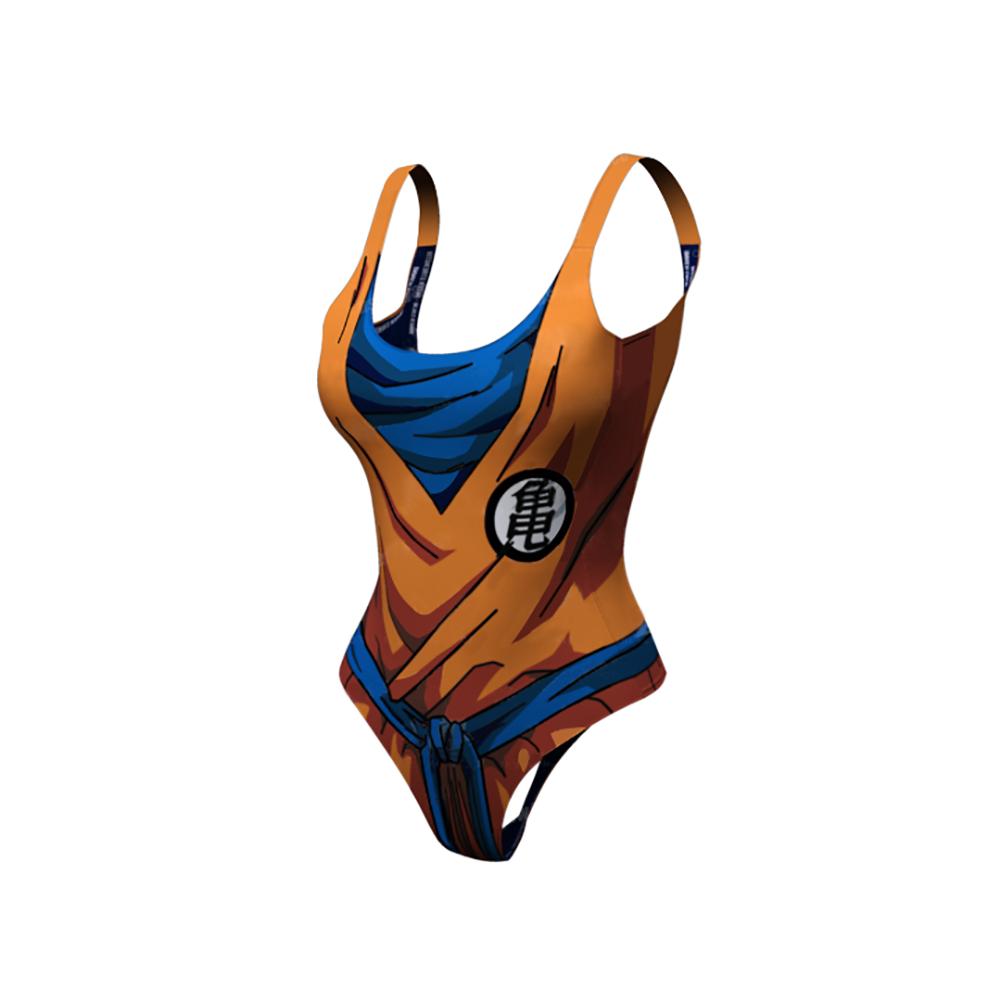 3D Anime Goku Printed Sexy Women Swimwear With Push Up One Piece High Waist Bathing Suit Swimsuit Pool Beach wear Uncategorized